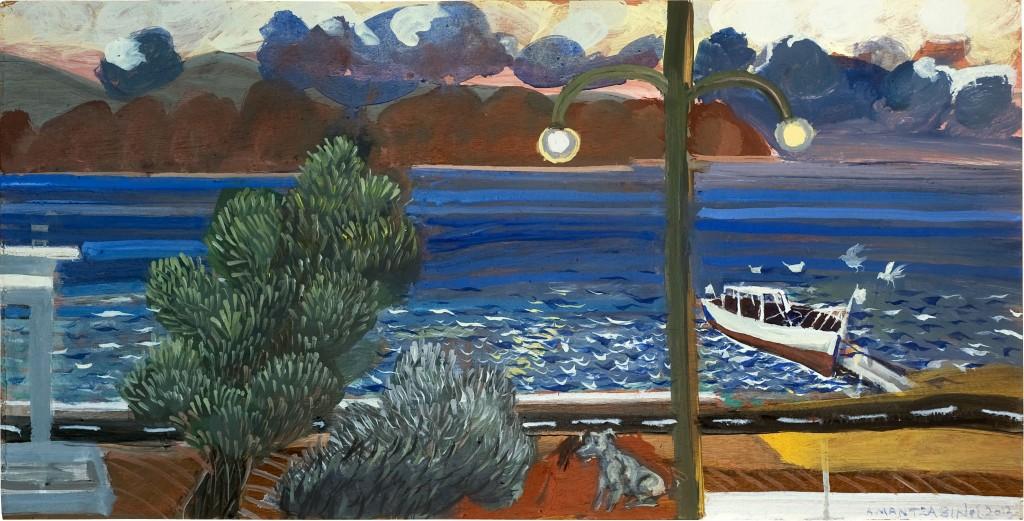 Κοινό έργο Τ. Μαντζαβίνος και Κ. Παπανικολάου Λάδι σε κόντρα πλακέ 30 x 60, 2013