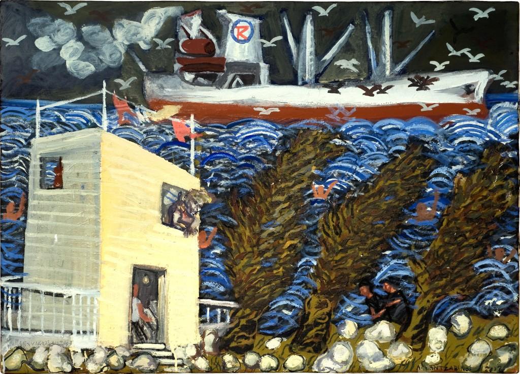 Κοινό έργο Τ. Μαντζαβίνος και Κ. Παπανικολάου Λάδι σε καμβά 50 x 70, 2013