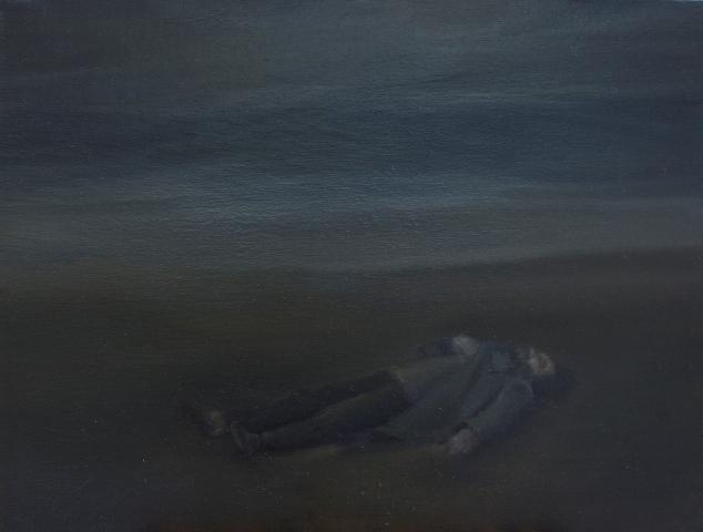 9,εντροπία,entropy, oil on canvas 40x52cm