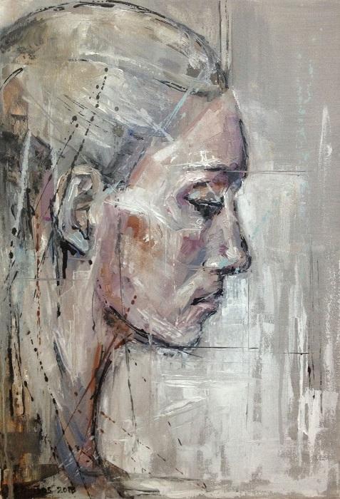 ΕΛΩΙΖΟΣ ΘΕΜΟΣΤΟΚΛΕΟΥΣ - ΛΑΔΙ ΣΕ ΚΑΜΒΑ (35Χ50) 2013 - Οil on canvas