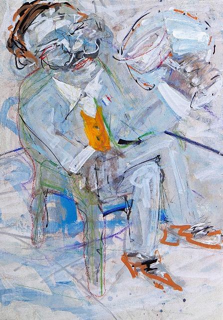 ΤΟΥΡΝΑΒΙΤΗΣ ΘΩΜΑΣ Le Sommelier, 70x50cm, oil on canvas