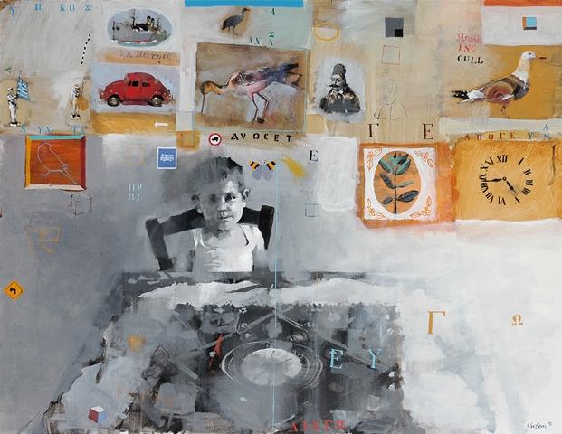 ΓΙΑΝΝΗΣ ΑΔΑΜΑΚΗΣ Εικόνες, 2005, 89Χ116 εκ., ακρυλικά σε μουσαμά.
