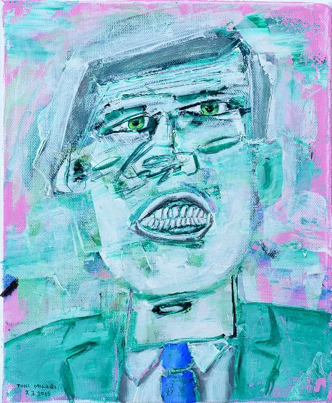 Toni Milaqi    Under Pressure  (acrylic on canvas, 24x30 cm, 2015)