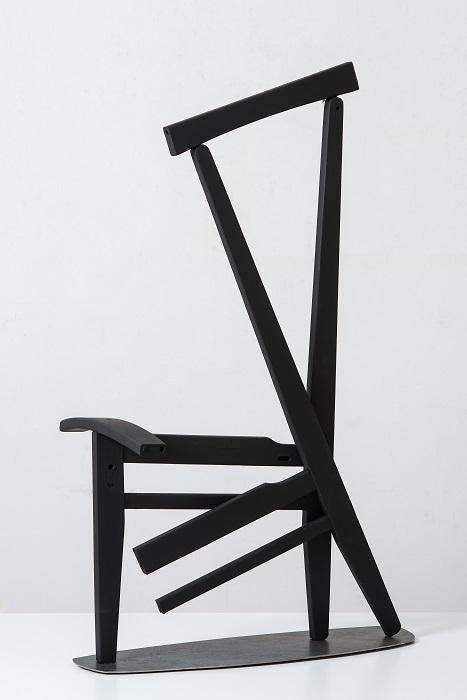 Ακροβάτης, ξύλο, χρώμα, σίδηρος, h110X69X39cm, 2016