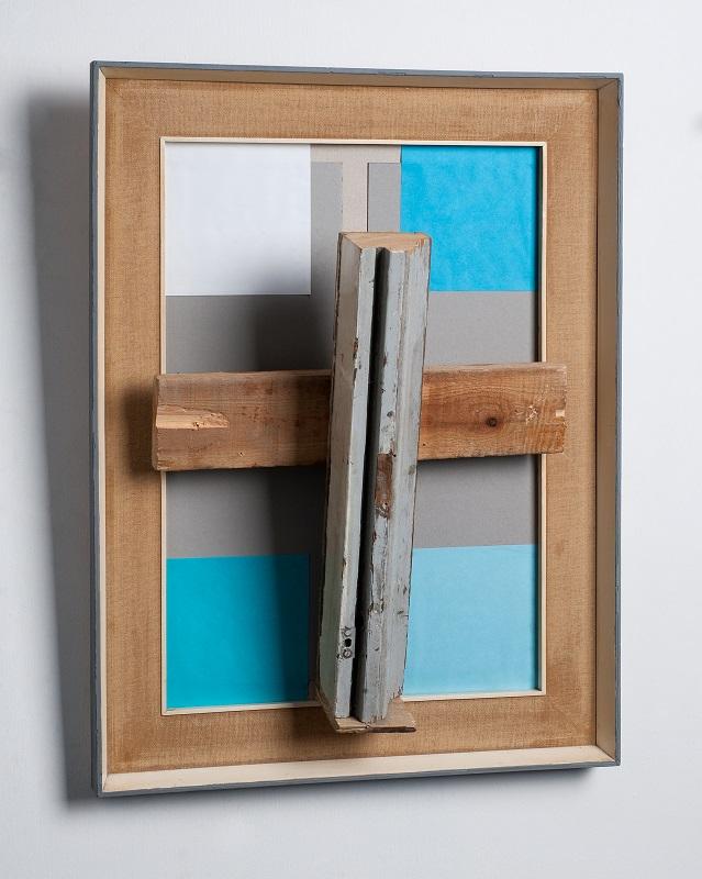 Η Παναγία των Ελλήνων  ξύλο, λινό, χαρτόνι, γιαπωνέζικο χαρτί, h68X52X20cm, 2016