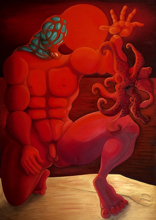 "Prey 2000  - Oil on canvas 170x130 cm ""Λεία"" 2000 Λάδι σε καμβά 170 x130 εκατ."