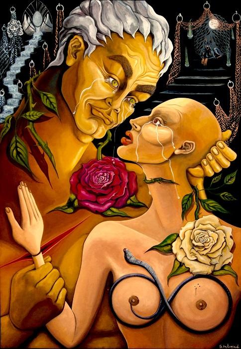 Ανείπωτα λόγια 2016  Ακουαρέλα 100x70 εκατ. Unspoken words - Watercolor 100 x70 cm