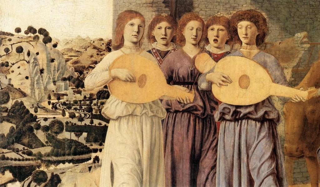 Piero della Francesca Η Γέννησις (λεπτομέρεια) 1470 124 Χ 123 εκ. National Gallery, Λονδίνο
