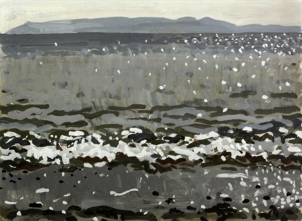Θάλασσα, τέμπερα σε χαρτόνι, 25x34cm