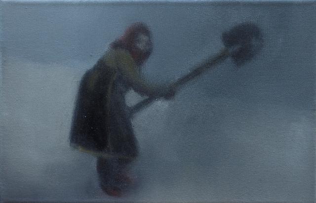 1   14 ,Η προετοιμασία-the preparation, oil on canvas 20x30cm