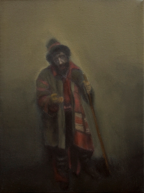 11    13, the beggar,the philosopher,oil on canvas 30x40cm