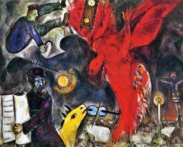 marc chagall the falling angel 1922