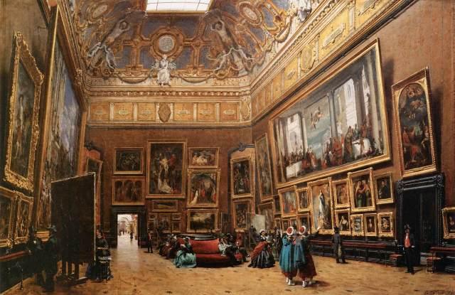 Giuseppe Castiglione «Le Salon Carré au musée du Louvre» (Το Σαλόν Καρέ στο μουσείο του Λούβρου), 1861