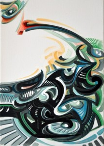 1 Gabriel Grama- Contemporary primitivism(Totem- the red eye), 2014- acrilic on canvas