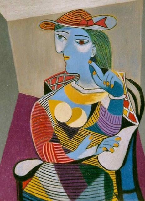 Pablo-Picasso seated-woman