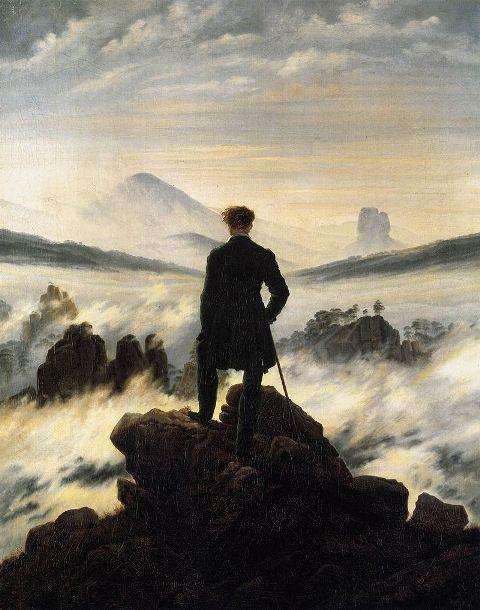 1 Caspar David Friedrich - Der Wanderer über demNebelmeer