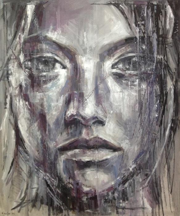 ΕΛΩΙΖΟΣ ΘΕΜΙΣΤΟΚΛΕΟΥΣ - ΛΑΔΙ ΣΕ ΚΑΜΒΑ (100Χ120) 2013 - Οil on canvas