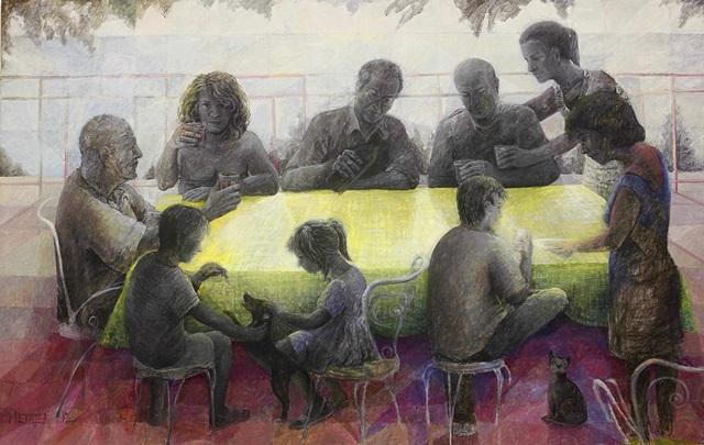 ΝΑΤΑΣΑ ΜΕΤΑΞΑ family tales 170x270cm acrylic on canvas 1,2 mb