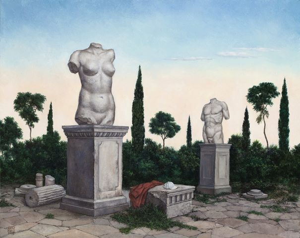 ΝΙΚΟΣ ΑΓΓΕΛΙΔΗΣ Κορμοί, 40 Χ 50 εκ., λάδι σε καμβά,  2012