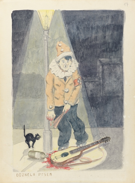 1 Pavel Fanti, The song is over,1942 © Collection of the Yad Vashem Art Museum, Jerusalem