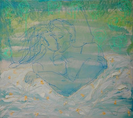 ΑΝΑΣΤΑΣΙΑ ΓΚΙΝΑΚΗ 'Καληνύχτα', ακρυλικό σε   μουσαμά,80χ90εκ 2014