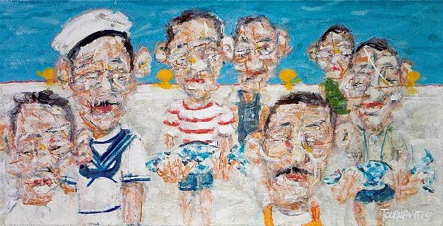 ΤΟΥΡΝΑΒΙΤΗΣ ΘΩΜΑΣ The Union, 50x100cm, oil on canvas