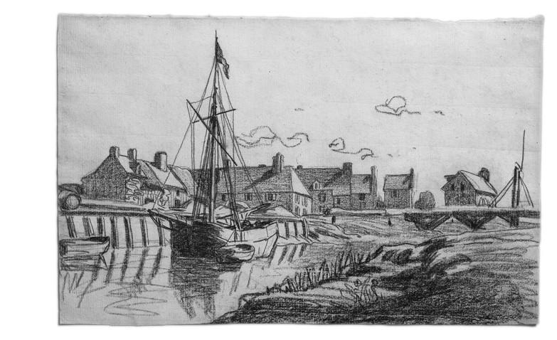 Το λιμάνι του Tonques, Monet 1864