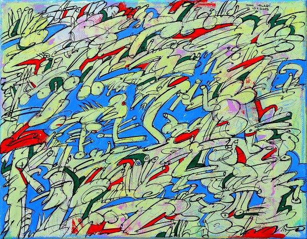 Toni Milaqi    Supermarket  (acrylic on canvas, 24x30 cm, 2015)