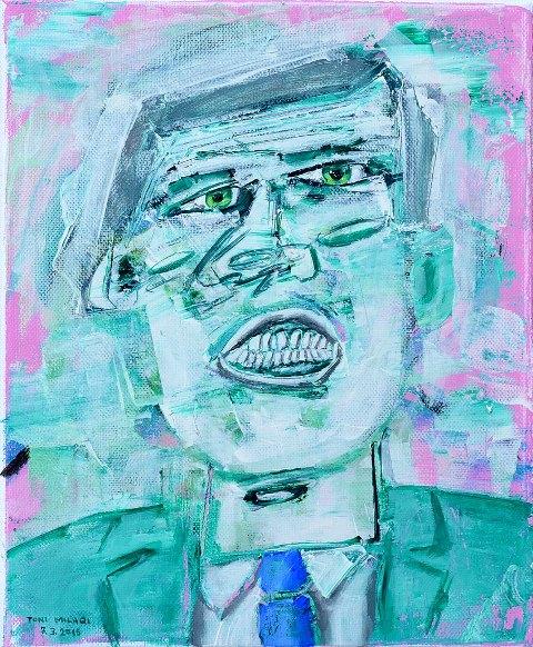 Toni Milaqi    Under Pressure  (acrylic on canvas, 24x30 cm, 2015)