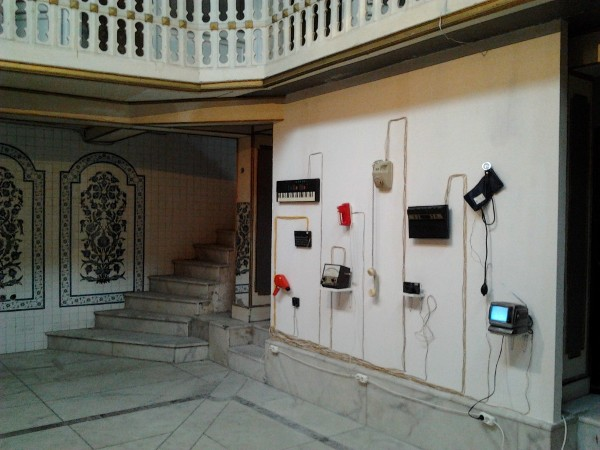 Downtime post-domestic fiction @ Çukurcuma Hammam, Amber 12 festival, Istanbul, TR 2012 (c) Marinos Koutsomichalis.