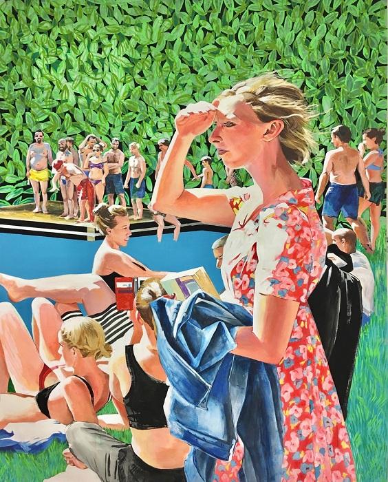 brit pond / 152x122 cm / mixed media on canvas / 2016