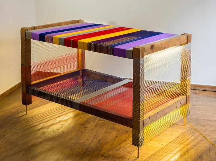 Τραπέζι, ξύλο, μαλλί. φως, 2014