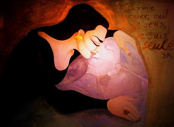 Αυτοπροσωπογραφία 1999 Ακουαρέλα 70x100 εκατ. Self portrait 1999 - Watercolor 70x100 cm