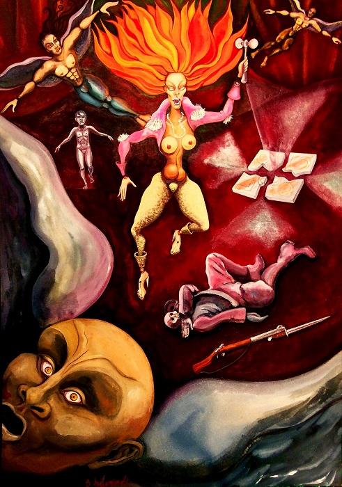 Apparitio 2016 Ακουαρέλα  70x50 εκατ. Apparition 2016 - Watercolor 70x50 cm