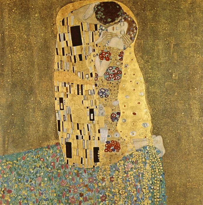 Το φιλί, από τον Γκούσταβ Κλιμτ. Φωτογραφία Αρχείο καθολικής ιστορίας