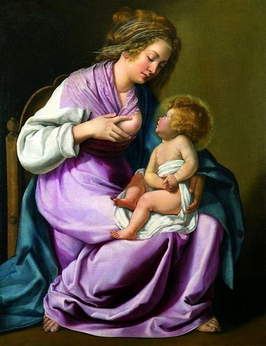 Η Παναγία που θηλάζει το παιδί -(1616 - 1618)
