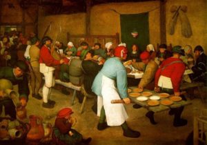 Pieter Bruegel Γιορτή Αγροτών, (1556).