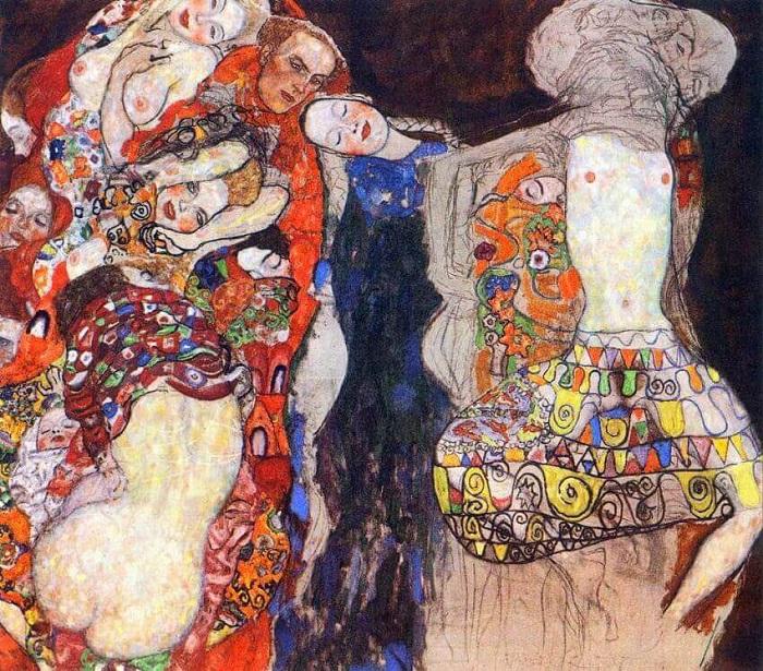 Όταν πέθανε ο Klimt, Όταν πέθανε ο Klimt, ένας ημιτελής πίνακας με τίτλο Η Νύφη έμεινε στο στούντιό του. Στο δεξιό μισό κυριαρχούσε μια ημι-γυμνή γυναικεία φιγούρα.