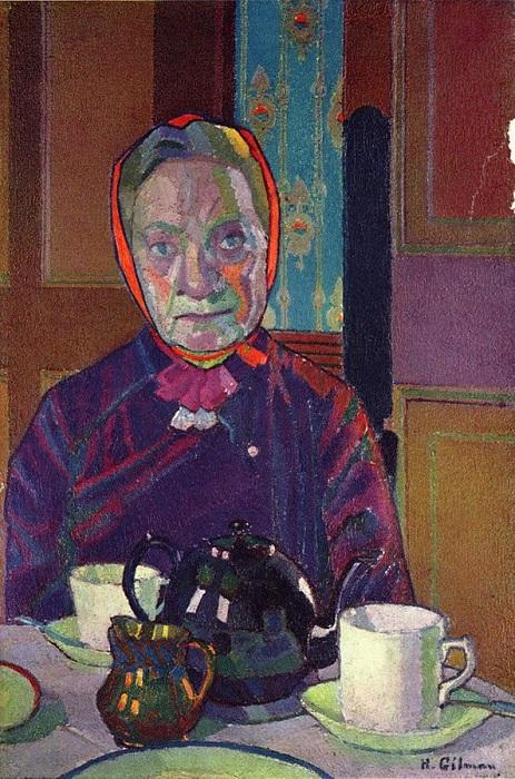 Harold Gilman, η κ. Mounter στο τραπέζι του πρωινού