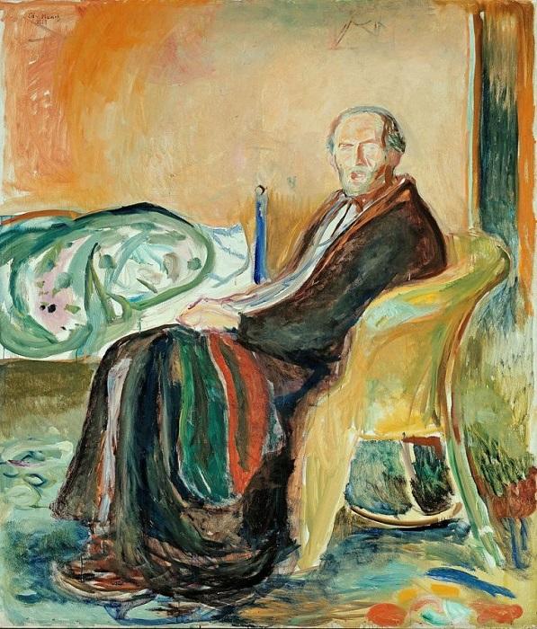 Edvard Munch, Αυτοπροσωπογραφία. Η μοναξιά της ανάρωσης. 1919, Όσλο, στην Εθνική Πινακοθήκη.