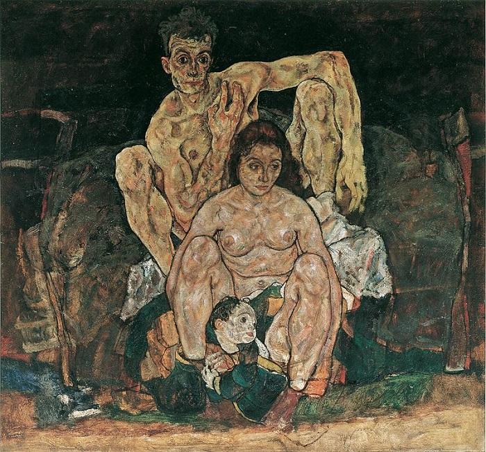 Egon Schiele, Οικογένεια. Το έργο που το πρόλαβε ο θάνατος...