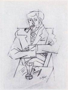 Jean Metzinger, Guillaume_Apollinaire, 1911. Centre Georges Pompidou,