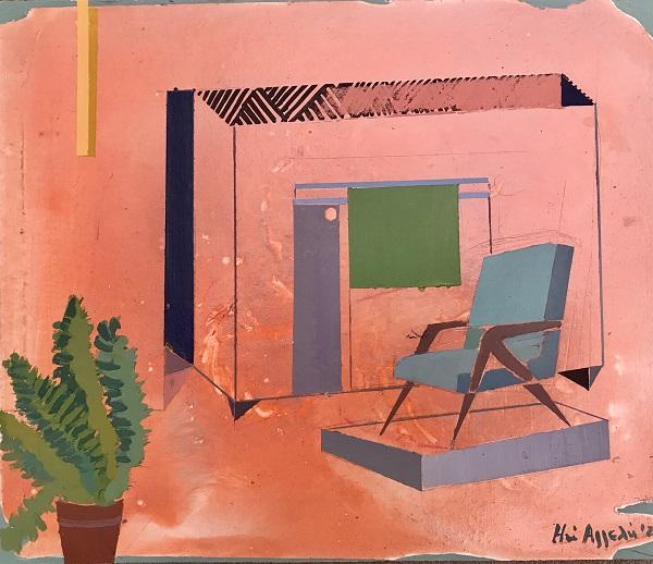 ΗΩ ΑΓΓΕΛΗ - Colored-Interiors 2020, Acrylics,on,wood,22X26cm@ZG