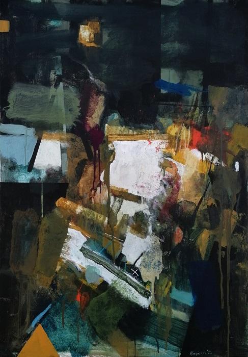 ΓΙΑΝΝΗΣ ΑΔΑΜΑΚΗΣ, Interior 2020 -100Χ70cm Acrylics on canvas@ZG