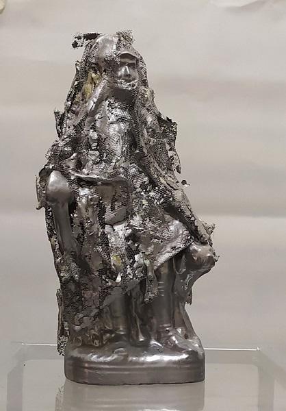 ώστας Τσώλης. Κυνηγός, μικτή τεχνική 27x14x11 cm