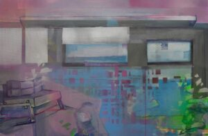 Αλεξάνδρα Μαράτη desertion 40x60, 2021, acrylic and spray colours